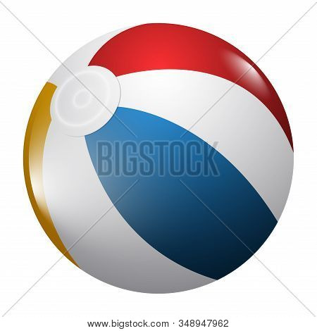 Isolated Realistic Beach Ball. Sport Ball - Vector