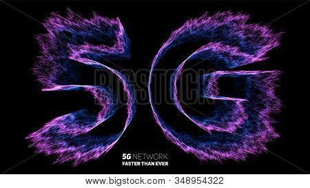 Vector Abstract 5g New Wireless Internet Connection Background. Global Network High Speed Network. U