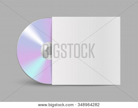 Cd Or Dvd Compact Disc. Realistic Compact Disk.