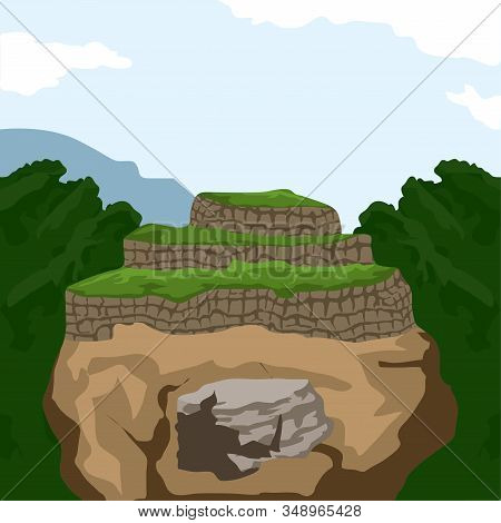 Famous Place In Colombia. Lost City In Santa Marta - Vector