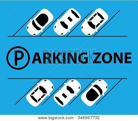 City Parking Lot Illustration Vector Web Banner. Public Car-park. Flat Style. Shortage Parking Space