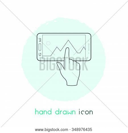 Interaction Design Icon Line Element. Vector Illustration Of Interaction Design Icon Line Isolated O