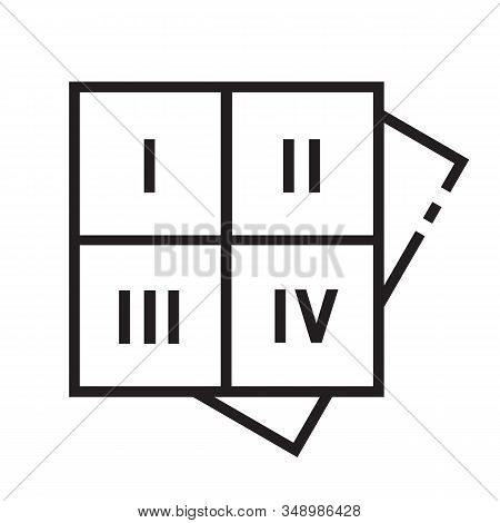 Numerology Square Icon Is In Line And Pixel Perfect Style. Magic Vector Icon For Fortuneteller Or As