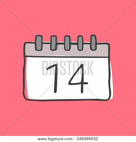 Tear-off Calendar With The Date February 14.