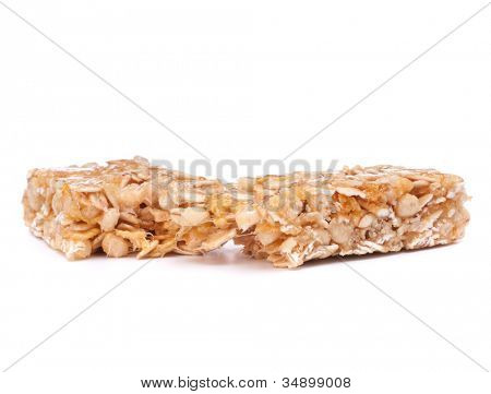 Healthy munchies isolated on white background