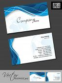 Abstract colorful bright color professional and designer business card template or visiting card set. EPS 10. Vector illustration. poster