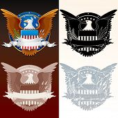 Set of Stylized Seal of the President poster