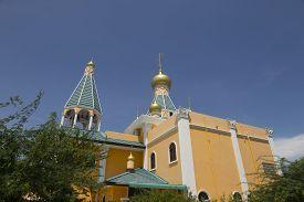 Orthodox Church With Blue Sky At Hua Hin , Thailand