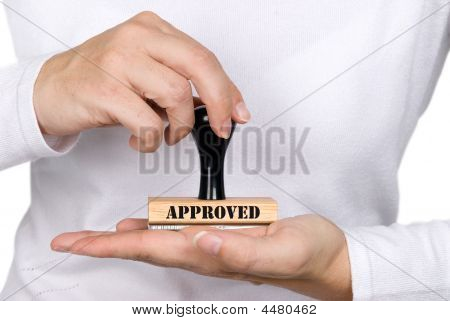 Approval Stamp And Woman