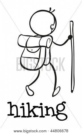 Illustration of a simple sporting figure