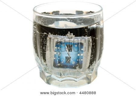 Waterproof Watch In Glass With Water