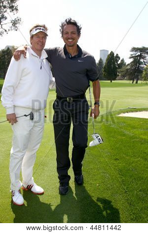 LOS ANGELES - APR 15:  Jack Wagner, Benjamin Bratt at the Jack Wagner Celebrity Golf Tournament  at the Lakeside Golf Club on April 15, 2013 in Toluca Lake, CA