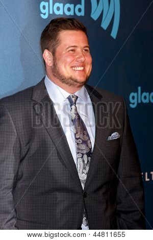LOS ANGELES - APR 20:  Chaz Bono arrives at the 2013 GLAAD Media Awards at the JW Marriott on April 20, 2013 in Los Angeles, CA