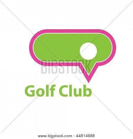 Idea for Golf Club. Vector sign.