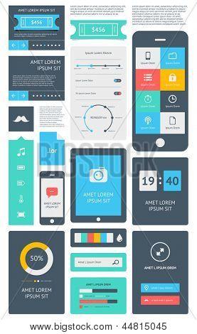 UI ist eine Reihe von schönen Komponenten mit den flache Design-Trend EPS10.