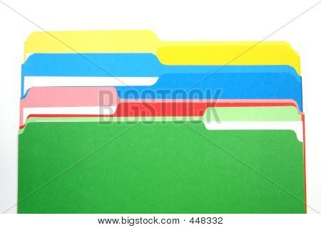 Colored Folders Four Colors Column