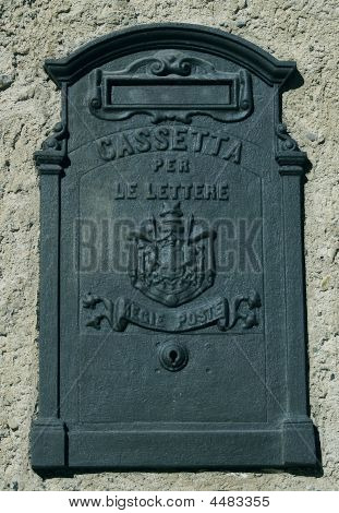 The Old Traditional Metal Italian Mailbox