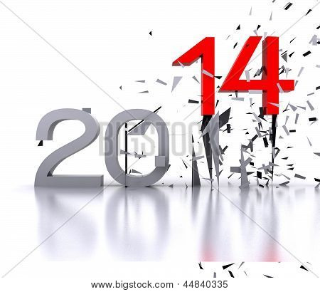 New year ... 2014 - 3D