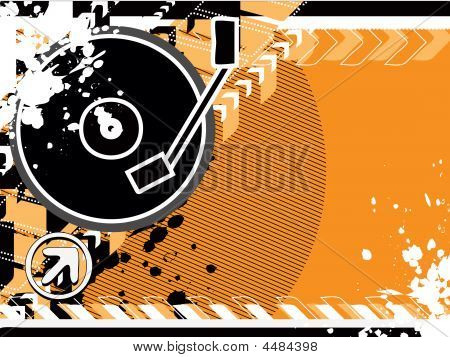 Orange Cd Graphic