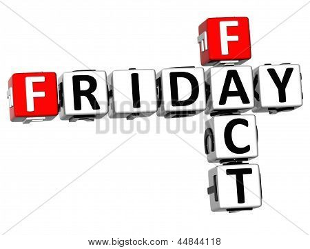 3D Friday Fact Crossword