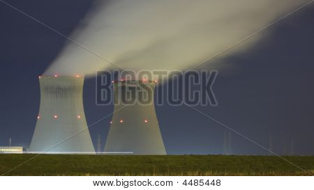 Cooling Towers Of A Nucliar Plant