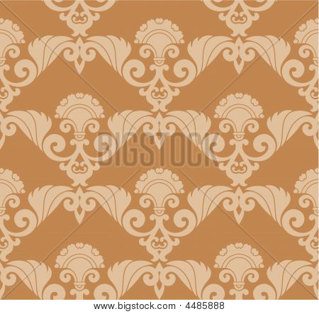Seamless two color Retro Wallpaper or textile drawing poster