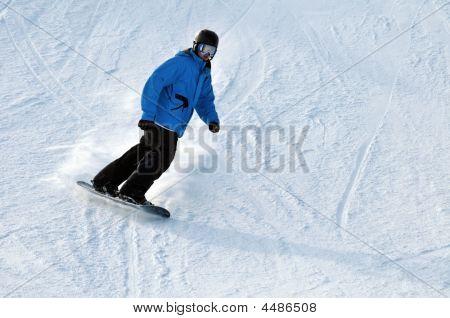 Snow Boarder Blue