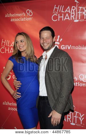 LOS ANGELES - APR 25:  Erica Hanson, Ike Barinholtz arrives at the Second Annual Hilarity For Charity benefiting The Alzheimer's Association  at the Avalon  on April 25, 2013 in Los Angeles, CA