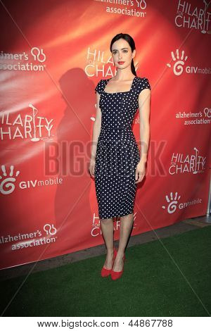 LOS ANGELES - APR 25:  Krysten Ritter arrives at the Second Annual Hilarity For Charity benefiting The Alzheimer's Association  at the Avalon  on April 25, 2013 in Los Angeles, CA