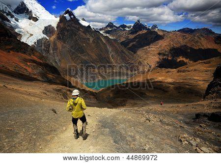 Trekking in Cordiliera Huayhuash, Peru, South America poster
