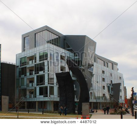 Part of The Denver Art Museum Residence complex by Daniel Libeskind. poster
