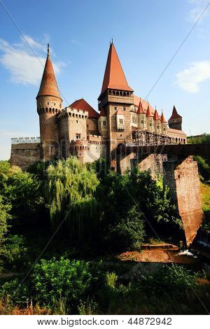 Corvinesti Castle, Hunedoara, Romania, Europe