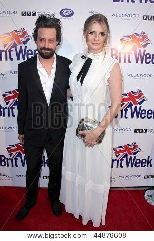 LOS ANGELES - APR 23:  Sebastian Knapp, Mischa Barton arrives at the 7th BritWeek Festival