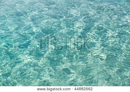 Texture Of Tropical Water.
