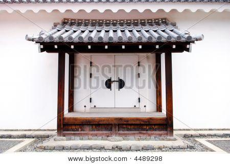 White Decorative Japanese Door