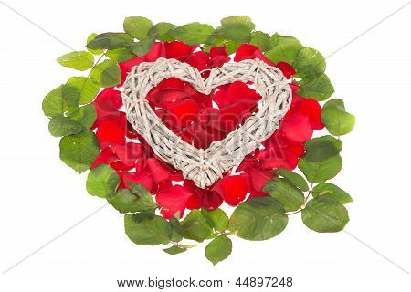 Heart On Rosy Bed