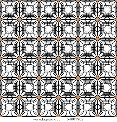 Design Seamless Monochrome Tetragon Pattern