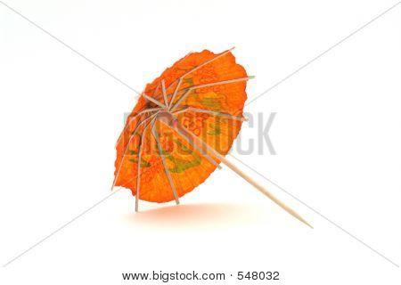 Orange Cocktail Umbrella