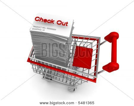 Ecommernce Concept Shopping Cart To Check Out