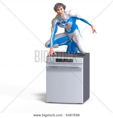 Superhero On A Disher