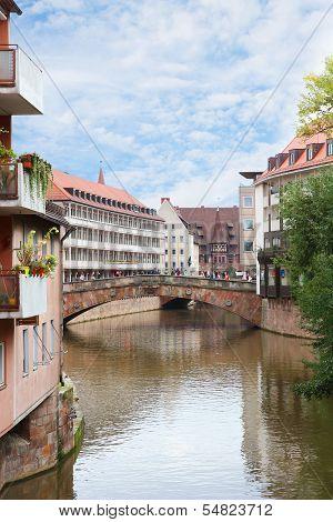 Fleisch Bridge In Nuremberg, Germany