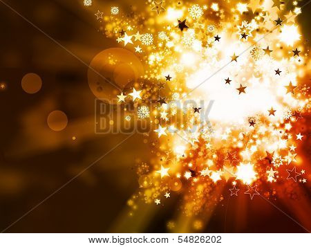 Abstract Gold Xmas Background