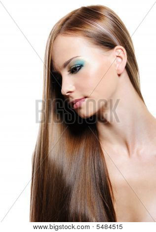 Portrait schönheit lange Haare der junge blonde Frau