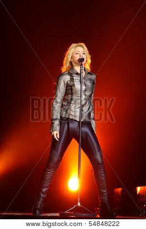 MINSK, BELARUS - MAY 14: Shakira performs at Minsk-Arena on May 14, 2011 in Minsk, Belarus.