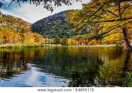 Texas Hill Country Fall Foliage and Clear Streams of Garner State Park