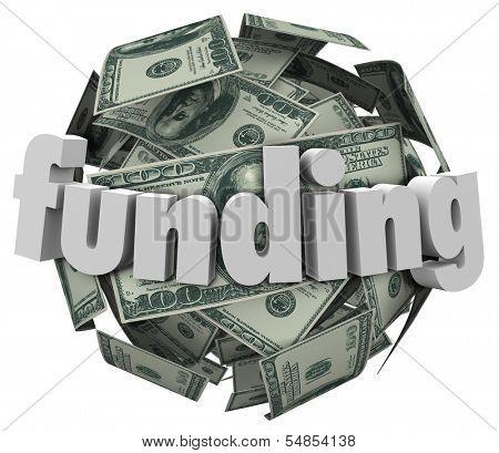 Funding Word Money Dollar Sphere Ball