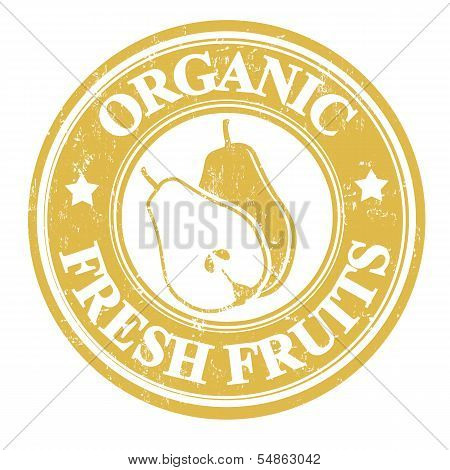 Pear Fruit Stamp Or Label