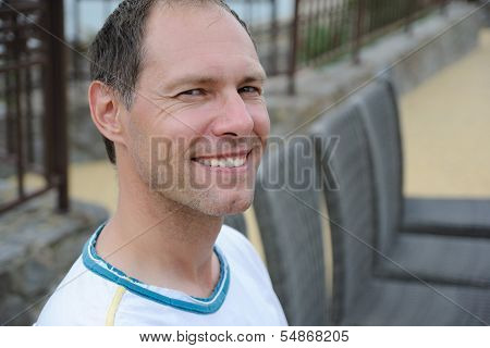 Smiling Middle Aged Man