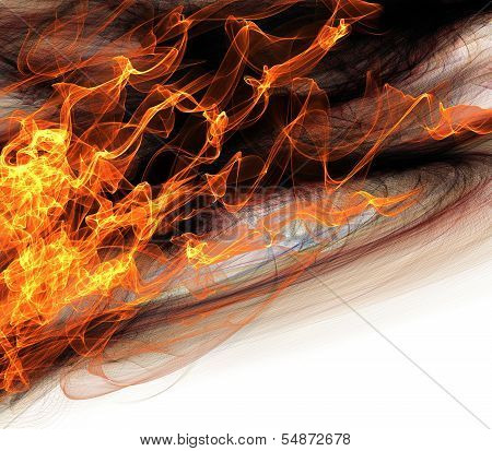 Abstract Flames of Fire Background