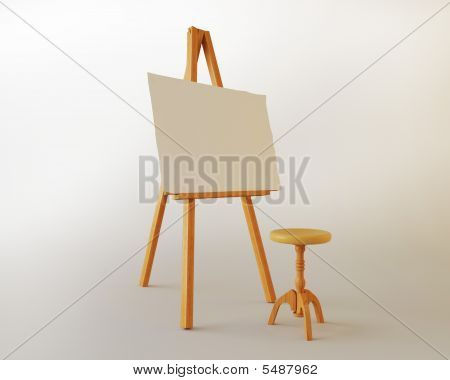 Easel On A White Background